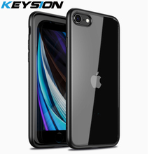 KEYSION Fashion Case for iPhone SE 2020 New SE2 Transparent Matte Shockproof Phone back Cover for iPhone XR XS Max X 8 7 Plus