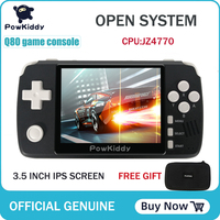 Powkiddy q80 Retro video Game Console Handset 3.5 IPS Screen Built in 1000+Games Open System PS1 Simulator 16G Memory NEW games