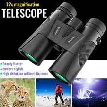 Binoculares Hd con Zoom fijo para niños, Gafas de visión nocturna, 12x42, envío gratis