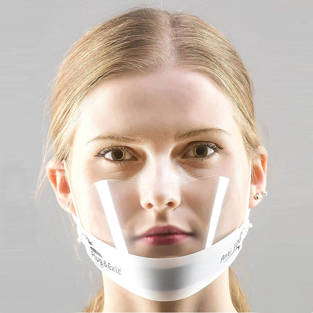 2020 прозрачная маска унисекс ресторанная маска для лица многоразовая маска для рта отель пластиковая маска повара маска для лица