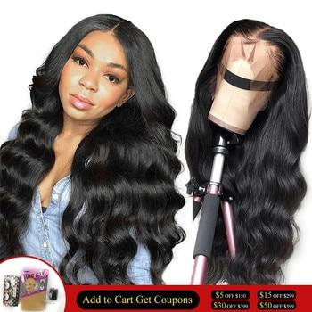 Цветные парики #2 #4 из человеческих волос на сетке спереди, предварительно выщипанные 360 парики на сетке спереди, волнистые парики для чернок...