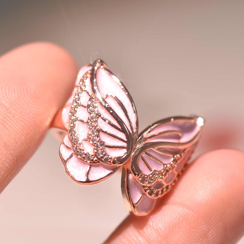 Warna Sliver 925 Merah Muda Cincin untuk Wanita Pernikahan Pink Topaz Bizuteria Anillos 1 Karat Batu Permata 925 Berlian Perhiasan Kotak Cincin