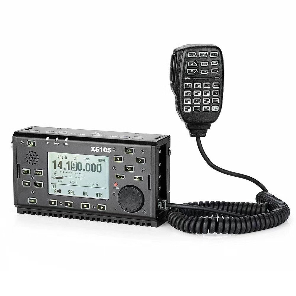 XIEGU X5105 Ultra-light Portable HF TRANSCEIVER 0.5-30MHz 50-54MHz 5W 3800mAh IF Output All Bands Covering SSB CW AM FM RTTY PSK