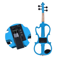 ammoon Full Size 4/4 Solid Wood Silent Electric Violin Fiddle Maple Body Ebony Fingerboard Pegs Chin Rest Tailpiece with Box