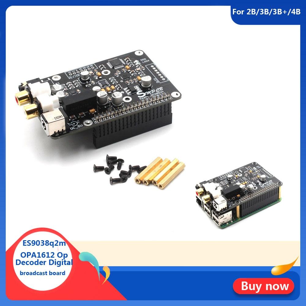 ES9038q2m OPA1612 Op Decoder Digital broadcast board I2S 32bit 384K DSD128 for Raspberry pi 2B 3B 3B  4B DAC G3-001