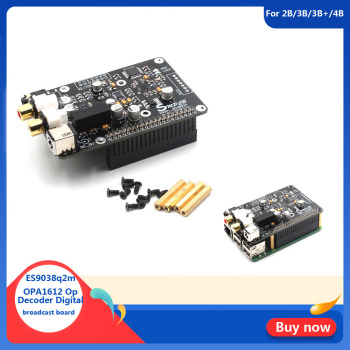 ES9038q2m OPA1612 Op Decoder Digital Broadcast Board I2S 32bit/384K DSD128 For Raspberry Pi 2B 3B 3B+ 4B DAC G3-001