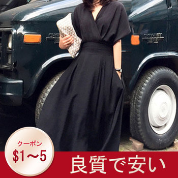 Summer Casual Sexy Elegant Korean Office Ladies Vintage Women Midi Dresses Black Loose High Waist Solid Female Fashion Dress
