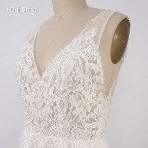 Image 5 - Свадебные платья в стиле бохо, ТРАПЕЦИЕВИДНОЕ пляжное платье невесты из тюля с изображением слоев, Прямая поставка