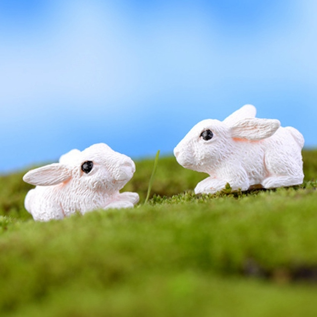 Mini Rabbit Garden Ornament Miniature Figurine 1
