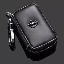 For Opel Astra H Insignia Mokka Zafira Corsa Omega Vectra Leather Car Remote Key Case Cover Wallet Buckle Shell Accessories Fob