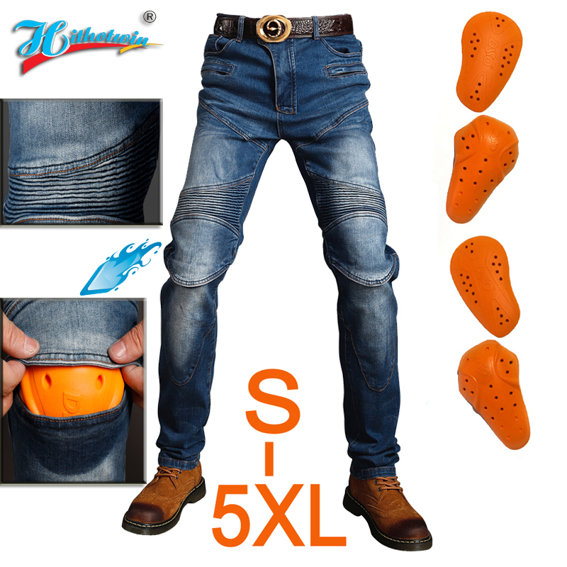 2020 New 718 Motorcycle Pants Men Moto Jeans Protective Gear Riding Touring Motorbike Trousers Motocross Pants Blue Black Pants