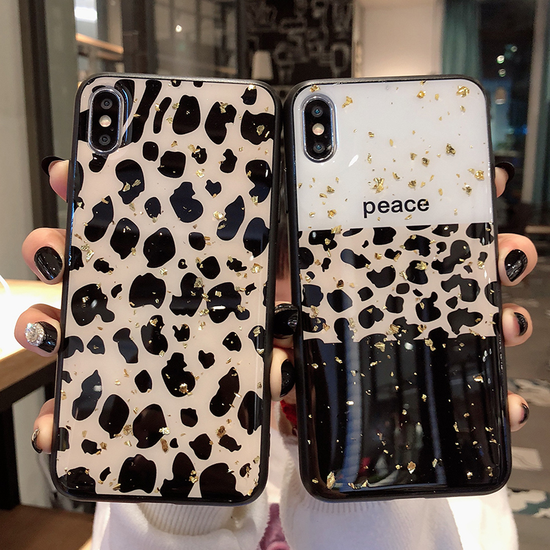 Leopard Print Phone Case Cover For Iphone 8 7 6 6S Plus 11 Pro X Xs Max XR Luxury Shining Soft Back Cases Colorful Fashion Shell