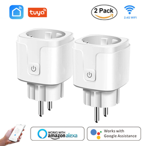 Smart WiFi Plug Adaptor 16A Remote Voice Control Power Monitor Socket Outlet Timing Function work with Alexa Google Home Tuya(China)