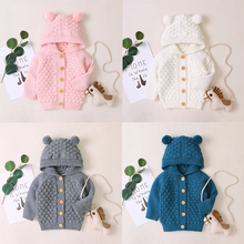 New Born Baby Clothes Autumn Cute Ear Hooded Tops Infant Baby