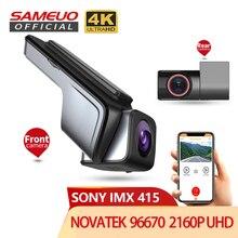 Sameuo u1000pro traço cam 4k visão traseira wifi dashcam para câmera do carro uhd 2160p gravador de vídeo reverso dvr 24h estacionamento monitor