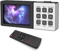 Caja de grabación de vídeo compatible con HDMI, 1080P @ 60fps, con LCD de 3,5 pulgadas y Control remoto, reproducción, captura de programa