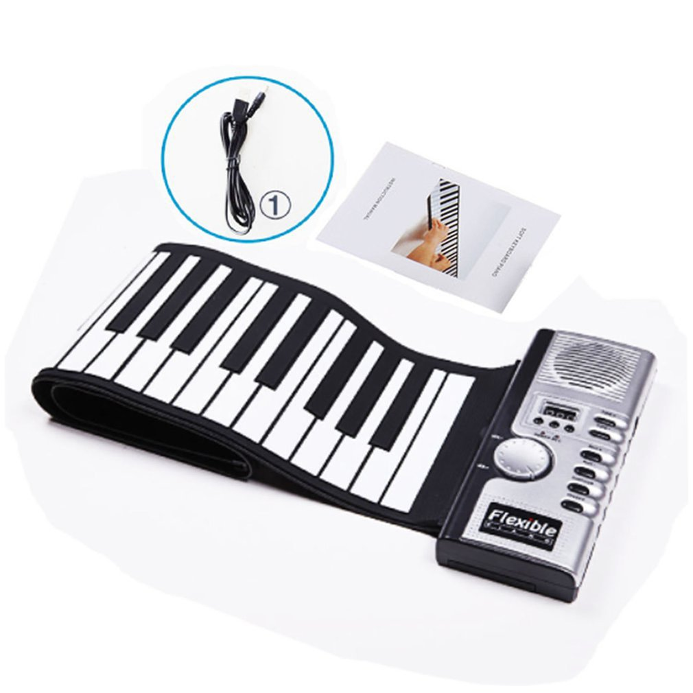 HOT Sale Flexible Roll Up Electronic Soft Keyboard Piano Portable 61 Keys