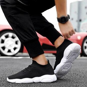 Zapatillas de deporte de moda para hombre, zapatos casuales suaves, zapatos para correr de corte bajo transpirables para hombre, zapatillas deportivas de marca de primavera Otoño de alta calidad para hombre
