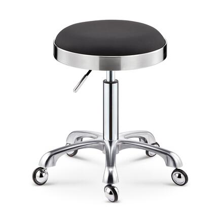 Stool Stainless Steel Rotating Pulley Beauty Stool Big Work Stool Makeup Hair Salon Nail Stool