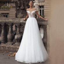 Платье свадебное с открытыми плечами 3d цветочным рисунком открытой