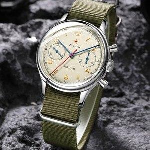 Image 3 - Классические сапфировое стекло 1963 хронограф для мужчин пилот часы механический ручной Ветер движение мужчин t ST1901 мужские авиаторы часы SEAKOSS 38 40