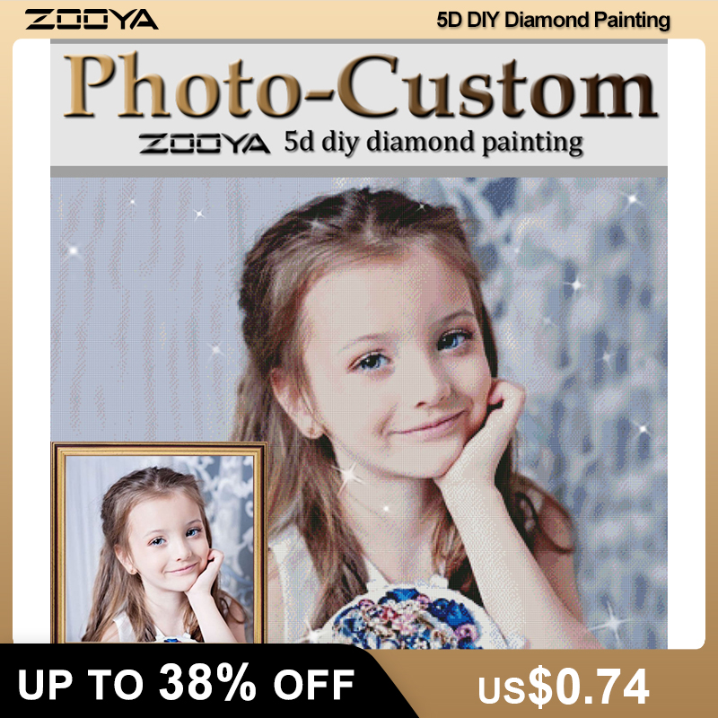 ZOOYA Mosaic Embroidery Diamond Painting Photo Custom Sale Full-Square DIY 3D AZ2 title=