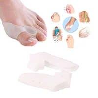 Alisador de dedos grandes para dedo pulgar Valgus, Protector de silicona con Gel para pies, separador de dedos para juanete, herramientas de pedicura de masaje, 2 uds.