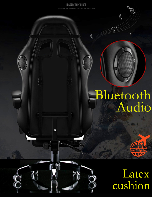 【Bluetooth Audio】Latex Cushion Gaming Chair Ergonomic Computer Armchair Anchor Home Cafe Game Competitive Seats