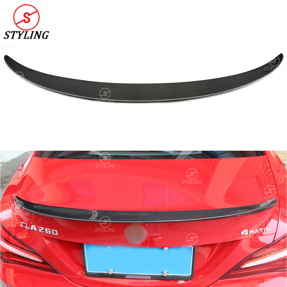 CLA45 AMG Carbon <font><b>Spoiler</b></font> Wing For Mercedes-benz W117 CLA200 <font><b>CLA250</b></font> Rear trunk <font><b>spoiler</b></font> AMG Style 2013 2014 2015 2016 2017 2018 image