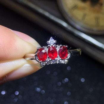Natural And Real Red Ruby Ring 925 Sterling Silver Rings for Wedding Rings Silver 925 Gemstones Jewelry Fine Jewelry