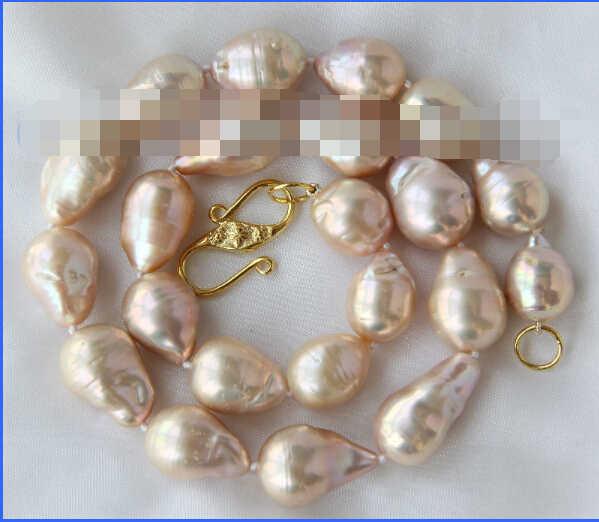 """Schöne große 25mm barocke rosa keshi reborn süßwasser-zuchtperlen necklace18 """"NEUE"""