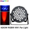 4 шт./лот 42X3W светодиодные плоские лампы высокой мощности LED Par Банки для домашней вечеринки DJ диско профессиональное сценическое освещение о...
