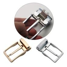Men Reversible Metal Alloy Belt Buckles Replacement Rectangular Pin DIY Leather Craft Hardware Accessories