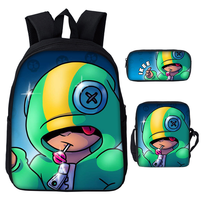 Laptop Bagpack Mochila Sling-Bag Pencil-Case Brawl Stars Kids Casual Students