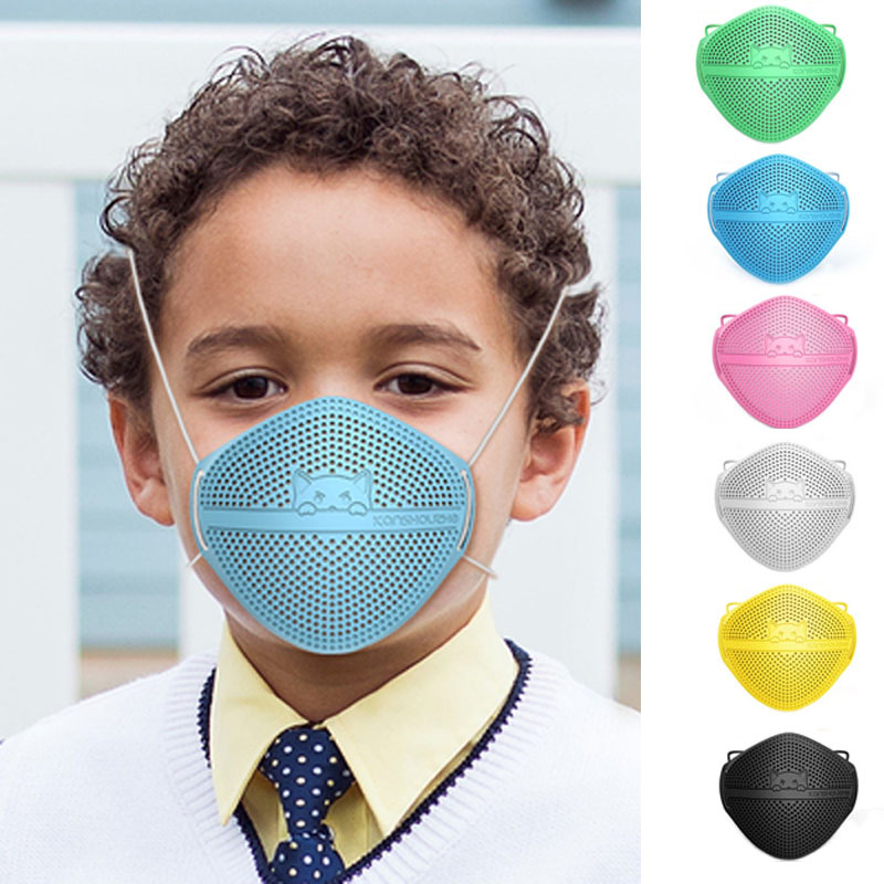 Anti Dust Anti-Splash Mouth And Nose Separation Face Mouth Masks PM2.5 Activated Carbon Filter Valve Breathable Mask For Kids