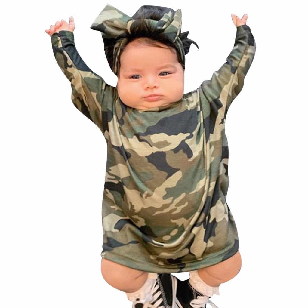 Детское платье для маленьких девочек камуфляжное платье принцессы с повязкой на голову комплект для маленьких девочек, кофта с капюшоном, Robe Fille Vestido Bebes