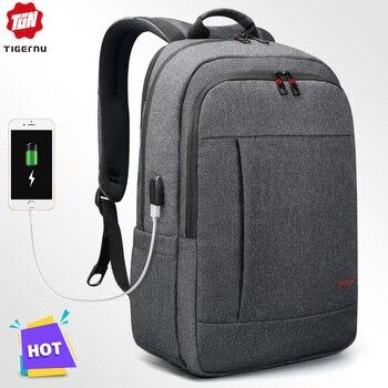 Mochila para ordenador portátil de 15,6 a 17 pulgadas con Mochila con USB antirrobo Tigernu, Mochila escolar para mujer y hombre, Mochila de viaje para hombre y mujer