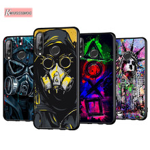Máscara anti-queda para dj, capa de celular para huawei p30 p20 p40 lite e pro p smart z tampa traseira plus 2019 p10 p9 lite