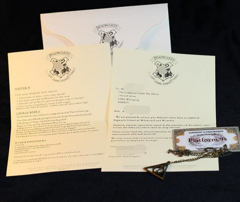 Hp Harri Admission Letter Of Hogwartss Sent Olws To Harri Pack With The Deathly Hallows Necklace And Train Ticket Toys Kids Gift