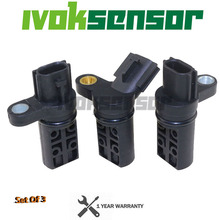 A Set of 3 Engine Crankshaft Camshaft Position Sensor Kit for NISSAN INFINITI 23731AL60A 237316J90B 23731AL60C 23731AL61A