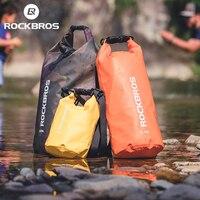 ROCKBROS-mochila impermeable de PVC para hombre y mujer, bolsa de natación deportiva, a la moda, para senderismo al aire libre, 20L