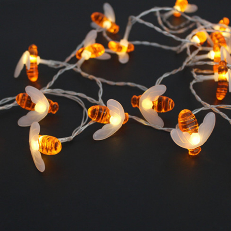 <font><b>30</b></font> LED Solar Powered Cute Animal Bee Party <font><b>Decorations</b></font> String Lights Outdoor Garden Fence Patio Christmas Garland Light image
