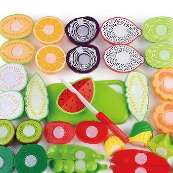 30Pcs Set Kids Kitchen Toy Plastic Fruit Vegetable Food Cutting Early Educational Children Toys Pretend Role Play Toy geek king 13pcs high quality set kitchen cooking toy children diy pretend kitchen toy role play toy set kids educational toys