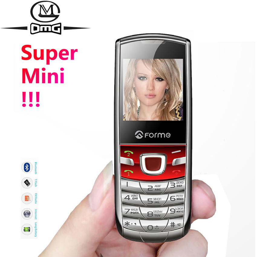 Russian keyboard Super mini mobile phone MP3 MP4 FM Camera Metal back cover Unlock Dual SIM child GSM cellphone FORME T3