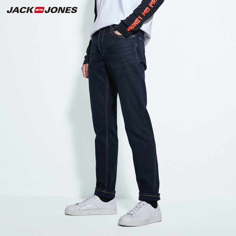 JackJones men's winter cotton Stretch jeans warm Denim Pants Menswear 219332587
