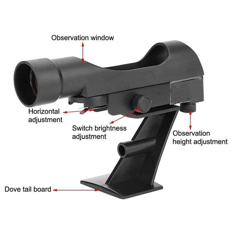 Ponto vermelho finderscope, estrela ponteiro telescópio finderscope