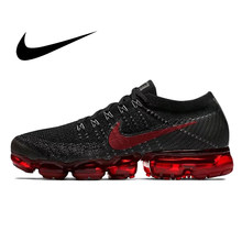 Nike Air Vapormax FLYKNIT Pria Sneakers Running Shoes Mesh Breathable Shockproof Ringan Nyaman Klasik Desain Footwear849558(China)