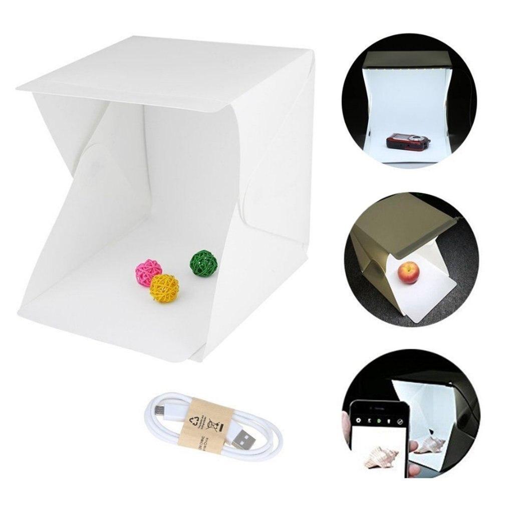 Profession Mini Folding Lightbox Photography Photo Studio Portable Led Light Soft Box Photo Background Kit For DSLR Camera