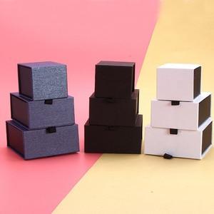 Image 5 - Scatola Per Gioielli Su Misura Logo 5*5.5*4.5 centimetri Pendenti con gemme e perle Orecchino Box con Anelli Magnetici Collana Scatola di Carta gioielli Organizer box