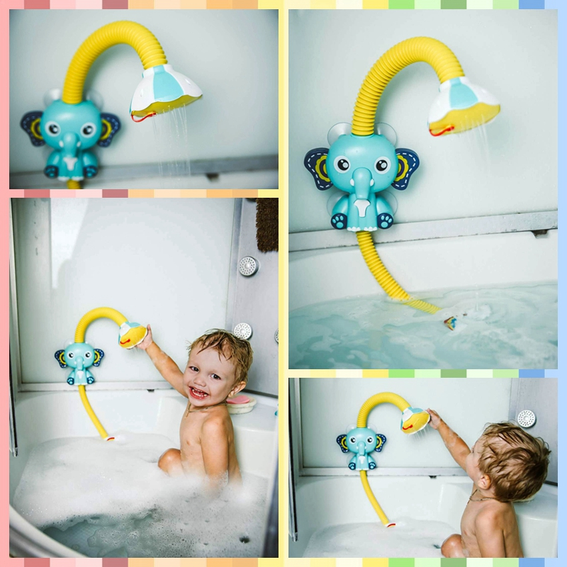 Hot DealsBath Toys Baby Water Game Elephant Model Faucet Shower Electric Water Spray Toy For Kids Swimming Bathroom Baby Toys